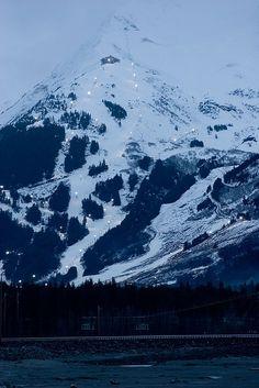 Thinking about visiting Alaska in the winter? Try skiing at Alyeska in Girdwood, Alaska. Anchorage Alaska, Girdwood Alaska, North To Alaska, Alaska Travel, Alaska Trip, Best Ski Resorts, Living In Alaska, Snow Skiing, Vacation Trips