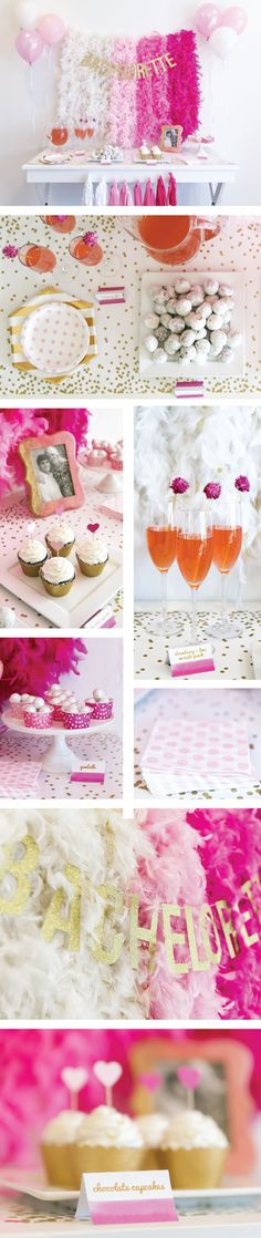 Bachelorette Party Kit | Pink and gold bachelorette party | bachelorette party supplies and decor