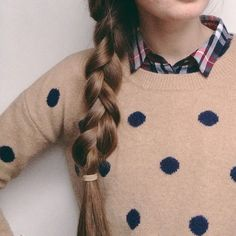 So cute! Polka dots + plaid