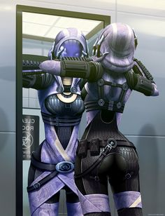 Mass Effect: Tali's Reflection by *ghostfire