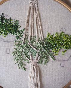 Macrame embroidery