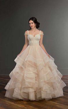 Claude + Storm Sweetheart Princess Wedding Dress Separates by Martina Liana