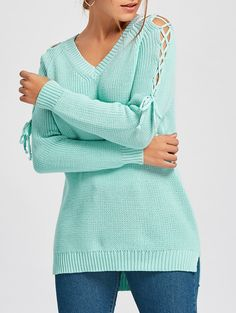 SHARE & Get it FREE   V Neck Criss Cross Sleeve SweaterFor Fashion Lovers only:80,000+ Items • New Arrivals Daily • Affordable Casual to Chic for Every Occasion Join Sammydress: Get YOUR $50 NOW!