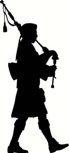 Bagpipe Player Silhouette Vinyl Decal