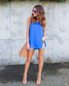 Madame Tank - Cobalt Blue