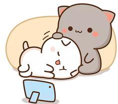 Cute Bunny Cartoon, Cute Kawaii Animals, Cute Couple Cartoon, Cute Cartoon Pictures, Cute Love Cartoons, Cartoon Profile Pics, Cute Bear Drawings, Cute Cartoon Drawings, Cute Love Pictures