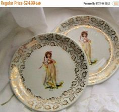 Vintage Pinky plates  Woods and sons plate  by NewtoUVintage