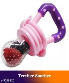 Baby Wellness rendy Baby Teether Soother Product Name: Baby Teether Soother Product Type: Teether Soother Material: Silicone Size: Age Group (0 Months - 3 Months) - 10 in Age Group (3 Months - 6 Months) - 12 in Age Group (6 Months - 12 Months) - 14 in Type: Teether Soother Description: It Has 1 Piece Of  Baby Teether Soother Country of Origin: India Sizes Available: Free Size *Proof of Safe Delivery! Click to know on Safety Standards of Delivery Partners- https://ltl.sh/y_nZrAV3  Catalog Rating: ★4.3 (2067)  Catalog Name: Free Gift Trendy Baby Teether Soother CatalogID_826035 C51-SC1666 Code: 351-5529220-