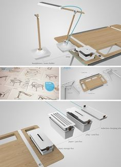 Clear the Clutter: Modular Desk for the Storage-Obsessed | Home and Interior Design Ideas