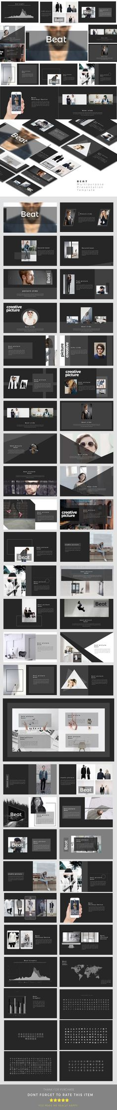 #Beat - Multipurpose Presentation Templates - Business #PowerPoint Templates