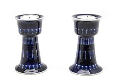 'Valencia' candle holders by Ulla Procope for Arabia Finland