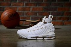 deb813de55bf9 Mens Nike LeBron 16 HFR Harlem's White Gold Basketball Shoes Gold Basketball  Shoes, Basketball Tips