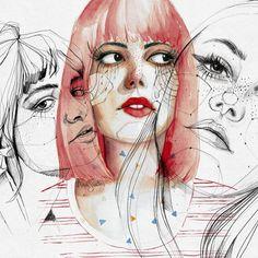 11.9 тыс. отметок «Нравится», 58 комментариев — Ana Santos (@anasantos_illustration) в Instagram: « collage 2 #pestarañas (antiguos dibujos)»