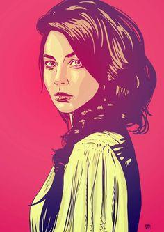 pinterest.com/fra411 #illustration - Illustration Gallery 6: Girls by Giuseppe Cristiano, via Behance