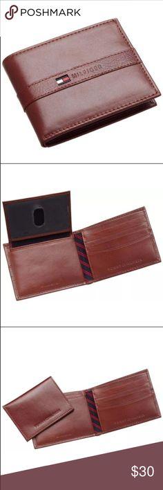 "New Tommy Hilfiger Men's Tan Leather Wallet New Tommy Hilfiger Men Wallet Color: Tan Size: 4.2"" x 3.2"" 4 Credit Card Slots 1 Bill Slot Tommy Hilfiger Bags Wallets"