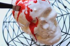 Knife In the Head Skull Cake ~ Diary of a Mad Hausfrau