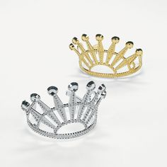 Elegant Diamond-Cut Tiaras - OrientalTrading.com cute for on top of cup cakes or kids table.