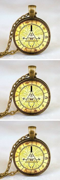 Love Gravity Falls? Grab this bill cipher wheel necklace today! Vintage drama gravity falls mysteries bill cipher wheel necklace