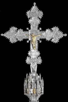 signorcasaubon:  Processional Cross of the Church of Saint Stephen Protomartyr, Madrid; recently restored by the Talleres de Arte Granda