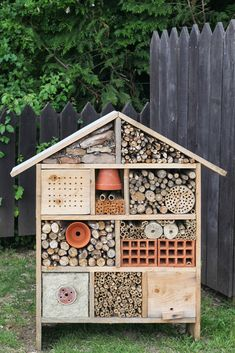 Picture of Insect Hotel stock photo, images and stock photography. Pictures Of Insects, Bug Hotel, Mason Bees, Bee House, Garden Insects, Birds And The Bees, Boho Diy, Back Gardens, Bee Keeping