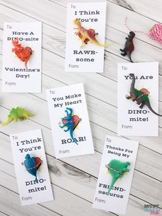 These dinosaur free printable kids valentine cards aim to be uber adorable and trendy while still being on budget and easy. Dinosaur Valentines, Kinder Valentines, Valentine Gifts For Kids, Homemade Valentines, Valentine Day Crafts, Valentine Ideas, Dinosaur Party, Classroom Valentine Cards, Valentine's Day Crafts For Kids