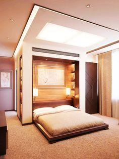 Desain Kamar Tidur dengan Kasur di Lantai Romantis