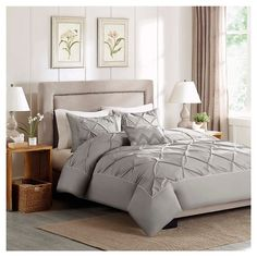 Cotton Percale Duvet Cover Set. Beautiful bedroom ideas #beddingsets #bedlinen #luxurybedding modern bedroom, bedroom decoration, duvet cover | More decoration ideas at www.plumesilk.com