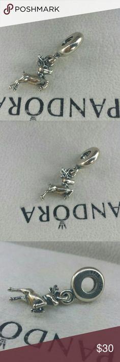 Pandora reindeer dangle charm ALE Gently used 925 ALE Jewelry Bracelets