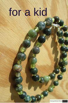 * PERIDOT MOOSACHAT KETTE fürsKind* Peridot Moss Agate Necklace for a kid * Peridot, Beaded Bracelets, Necklaces, Moss Agate, Agate Necklace, Children, Ebay, Jewelry, Pink Quartz