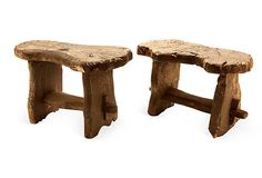 Love the rustic & would be perfect for a 'man cave', buuut $325...Rustic Stools, Pair