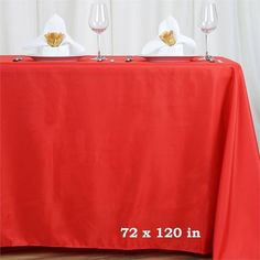 """72x120"""" RED Wholesale Polyester Banquet Linen Wedding Party Restaurant Tablecloth"""