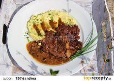 Hovězí loupaná plec na houbách recept - TopRecepty.cz Beef, Food, Meat, Essen, Meals, Yemek, Eten, Steak
