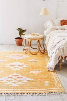Shop Sabira Printed Chenille Rug at Urban Outfitters today. We carry all the latest styles, colors and brands for you to choose from right here. Wall Carpet, Rugs On Carpet, Cheap Carpet, Eclectic Rugs, Chenille, Bedroom Vintage, My New Room, Colorful Rugs, Bedroom Designs