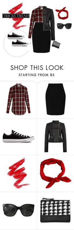 """Tricky Trend: Pencil Skirts and Sneakers"" by veronicawantscurves ❤ liked on Polyvore featuring Yves Saint Laurent, L.K.Bennett, Converse, Michael Kors, Chanel, Motel, tricky and pencilskirtandsneakers"