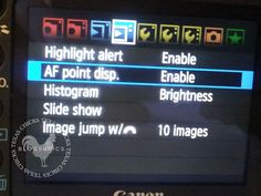 Finding your point of focus on the image on the back of your camera.  Found this and thought I would share ;)
