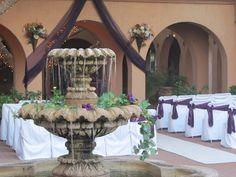 Aldea Weddings Ceremony eggplant colors