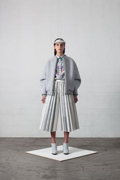 futurist styling #pleats #greys