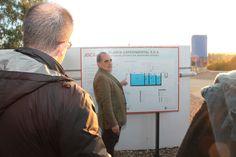 Juan José Salas mostrando proyectos novedosos en tratamiento de pequeñas poblaciones