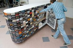 Kassetten Wiederverwendungen raumteiler idee