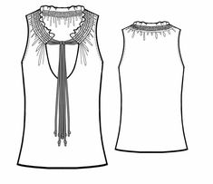 Blusa  - Patrón de costura #5684 Patrón de costura a medida de Lekala con descarga online gratuita.