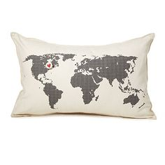 Look what I found at UncommonGoods: Heart Marks the Spot Pillow for $56 #uncommongoods