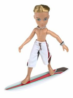 Bratz Boyz Sun-kissed Summer Cameron by MGA Entertainment. $59.88. Bratz Boy Sun-Kissed Summer 2004 Cameron is ready to dive into fun in the sun. He comes with hot summertime accessories such as snorkel gear, sunglasses and board shorts. His surfboard and towel with brown and red accents look great with his 3 hot mix-and-match outfits, and Cameron's snap-on bare feet can be switched for snap-on thong sandals, also included. Bratz Sun-Kissed Summer 2004 Dolls are s...