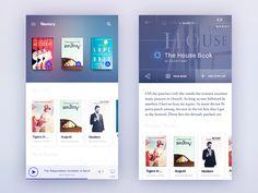 Dribbble - Books app Concept by Gleb Kuznetsov✈