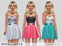 Amanda Dress by Metens at TSR via Sims 4 Updates
