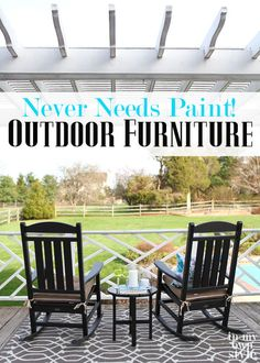Outdoor Polywood furniture featured on In My Own Style.  Stylish outdoor Decor that never needs paint!