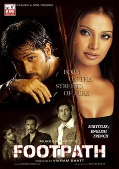 Footpath (2003) | http://www.getgrandmovies.top/movies/35029-footpath | Footpath is a Hindi crime thriller film directed by Vikram Bhatt and released in 2003. The film stars Aftab Shivdasani, Rahul Dev, Bipasha Basu and marked the debut of Emraan Hashmi. The film failed to do well at the box office. This film is inspired by the Hollywood flick State of Grace.