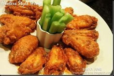 Simply June: Hooters Chicken Wings Copy Cat