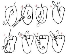 Amigurumi : Sew Toes as in Diagram ❥ 4U // hf http://www.pinterest.com/hilariafina/