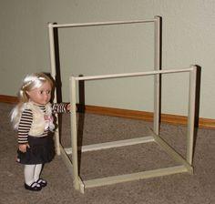 American Girl Doll Gymnastics Uneven Bars Do It Yourself DIY Kit. $40.00, via Etsy.