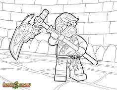 Lego Valentine color sheets | ... Lego Ninjago Cole KX Coloring Page ...